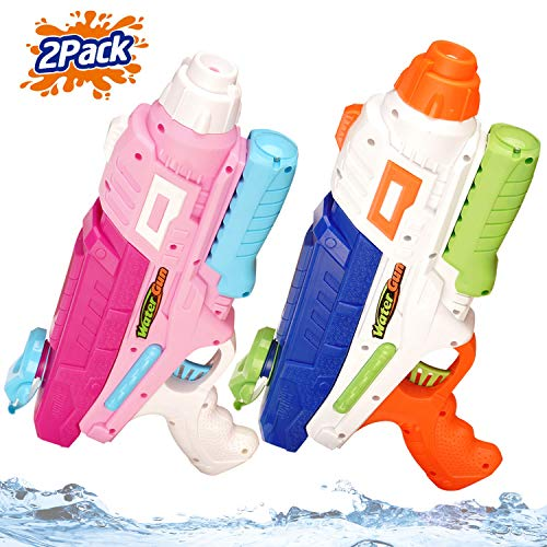 Jogotoll 2 Pack Water Guns for Kids Adults 600CC Super Soakers Blaster 32 Ft Long Range Squirt Guns Pool Beach Sand Toys Water Pistol