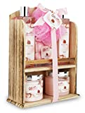 Spa Gift Basket With Lovely Pomegranate Fragrance - Bath set Includes Shower Gel, Bubble Bath, Bath Bombs and More! Great Mother's Day, Birthday, Anniversary, or Wedding Gift Set for Women and Girls
