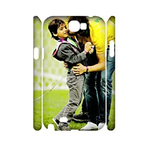 3D the World Cup Ricardo Kaka with Son Before the Game Samsung Galaxy Note 2 Cases, Cheap Case for Samsung Galaxy Note 2 Luxury Yearinspace {White}