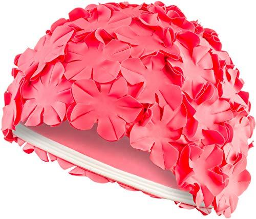 Aqua Speed Badekappe Retro | Badehaube Blumen | Schwimmkappe Damen | Schwimmhaube | Schwimmkappe | Bademütze Lange Haare | Latex | Bloom
