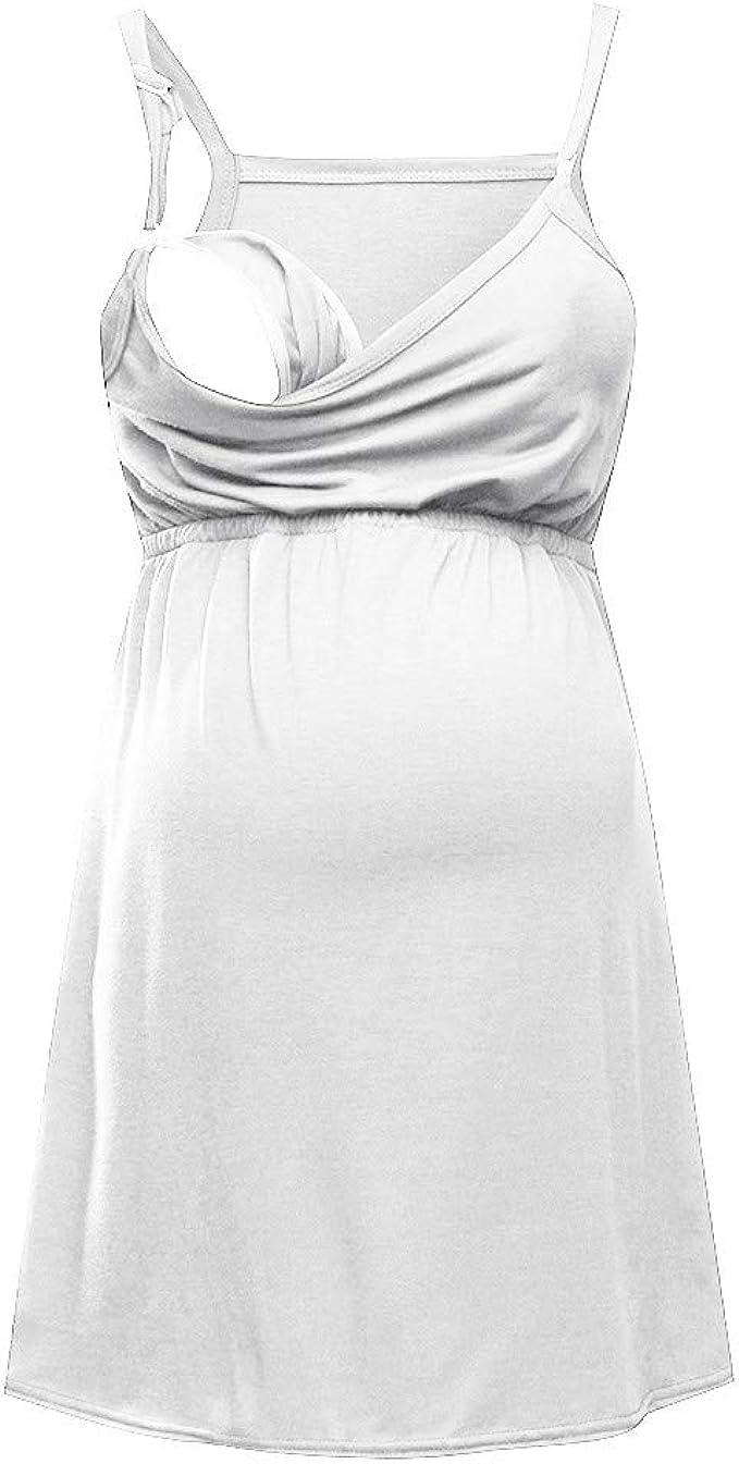Vectry Camisetas Premama Verano Mujer Sólido Embarazada Chaleco Bebé Lactante para Maternidad Blusa Sin Mangas Camiseta 2019 Tops De Mujer Nuevos: Amazon.es: Ropa y accesorios