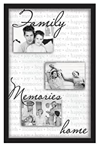 Mcs Industries 13 by 20-Inch A Family, Memories, Home Sentiment 3-Opening Collage Frame