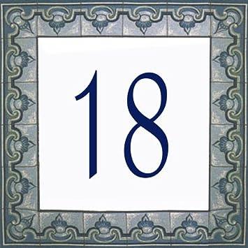Plaques de portes Quincaillerie Choisissez votre numéroet la taille de votre plaque de rue ! AzulDecor35 Numérotation de rue en faience