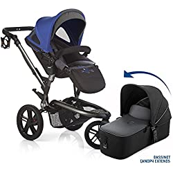 Jane Trider All Terrain Travel System Stroller with Bassinet - Azzure