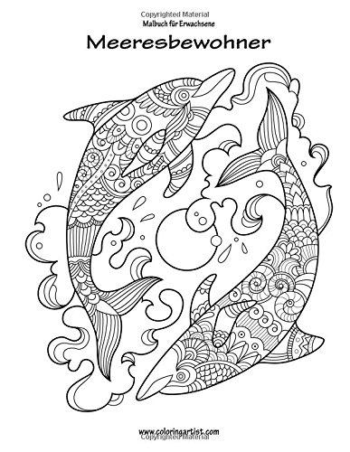 Malbuch für Erwachsene - Meeresbewohner 1: Amazon.de: Nick Snels: Bücher