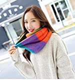 Generic Autumn and winter mixed colors temperament Beautiful warm scarf scarves Korean version of the new School of wind knitting wool scarf woman