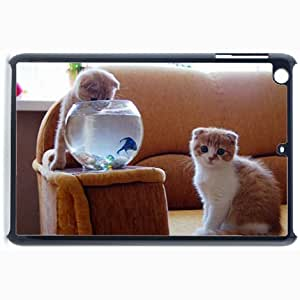 Customized Back Cover Case For iPad Mini 2 Hardshell Case, Black Back Cover Design Cat Personalized Unique Case For iPad Mini 2