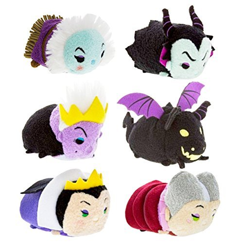 Disney Villains Party Favors Pack - Set of 6 Villains Tsum Tsum Plush Toys (Party Supplies) (Plush Set)