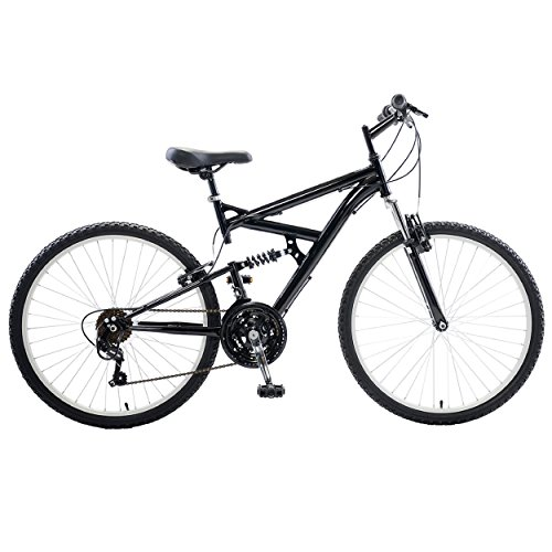 Cycle Force Dual Suspension Mountain Bike, 26 inch wheels, 18 inch frame, (Mens Dual Suspension)