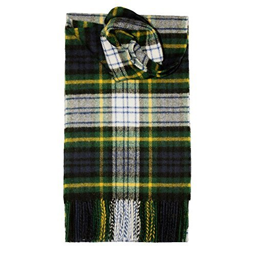 Brushed Wool Plaid Scarf Made in Scotland (Gordon Dress Modern)