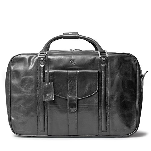 Maxwell Scott Luxury Black Leather Suitcase Bag for Men (The Maurizio) by Maxwell Scott Bags