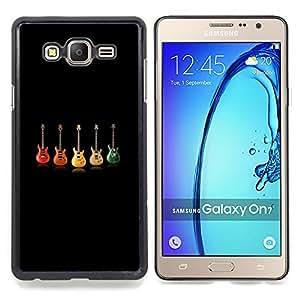 """Qstar Arte & diseño plástico duro Fundas Cover Cubre Hard Case Cover para Samsung Galaxy On7 O7 (Color de Guitarra"""")"""