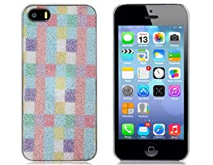L&F - Glitter Plaid Metal Skin Protective Case for iPhone 5/5S