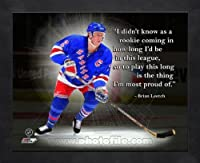 Brian Leetch NY Rangers Pro Quotes Framed 11x14 Photo