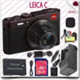 Leica C CMOS WiFi NFC Digital Camera (Red 18489) + 8GB SDHC Card + HDMI Cable + Soft Camera Case + 11pc Leica Saver Bundle