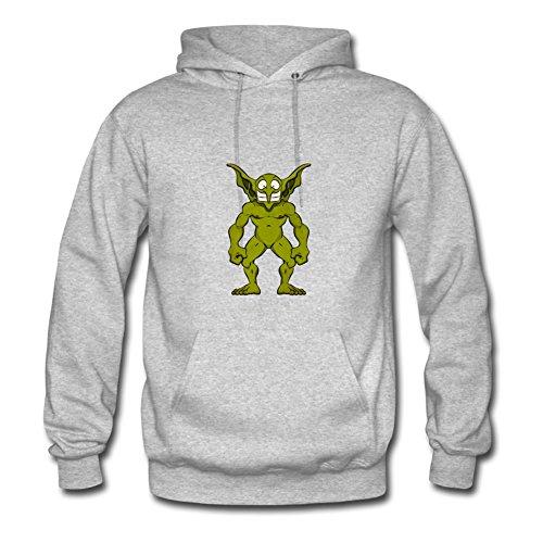 Customizedclothing Women Halloween Goblin Printed Sweatshirts (x-large,grey) -