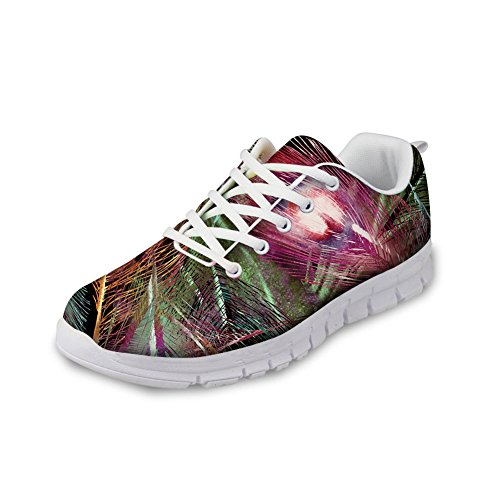 Womens Peacock3 Design Lightweight HUGS Shoes IDEA Painting Sneakers Fashion Running Casual t6v6gf4wq