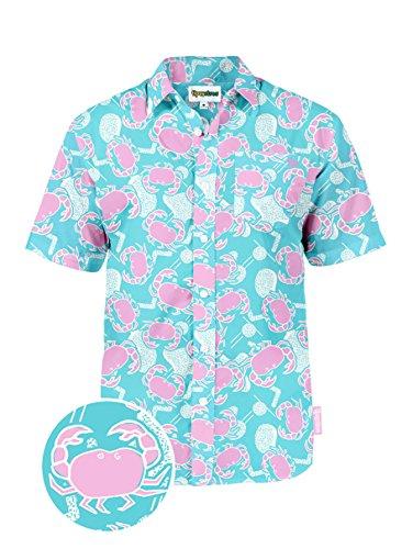 dca1836e Tipsy Elves The Crustacean Vacation Hawaiian Shirt: Large