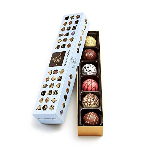 Godiva Chocolatier Patisserie Chocolate Truffle Flight Box, Assorted Dessert Chocolates, Chocolate Treats, Chocolate Truffles, Great for any gift, Chocolate Desserts, 6 pc