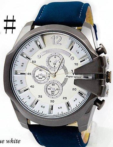 Hombres del dial de relojes grandes Cool cinturón deporte reloj, 4 #: Amazon.es: Relojes