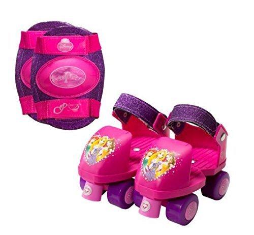 Disney Princess Adjustable Junior roller Skates Roller Skates Girls and Knee Pads J6-J12