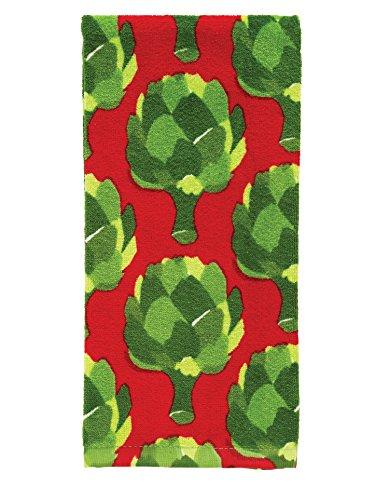 "T-Fal Textiles 100% Cotton Fiber Reactive Printed Kitchen Dish Towel, 19"" x 28"", Artichokes Print"