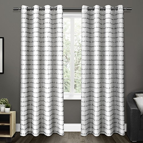 Curtains Ideas black and white patterned curtains : White Pattern Curtains: Amazon.com
