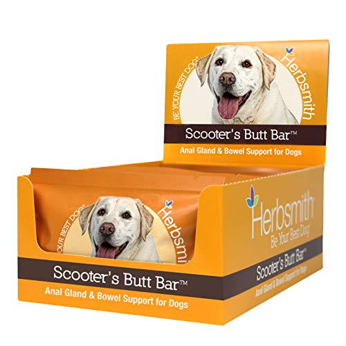Herbsmith Scooter's Butt Bars - Anal Gland and Bowel Support with Pumpkin Fiber for Dogs- Digestive Aid for Dogs - Dog Fiber Bars - Case of 8 Large Bars