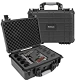 Elkton Outdoors Hard Gun Case: Fully Customizable Pistol Case: Holds 4 Handguns and 8 Magazines: Crush Resistant & Waterproof!