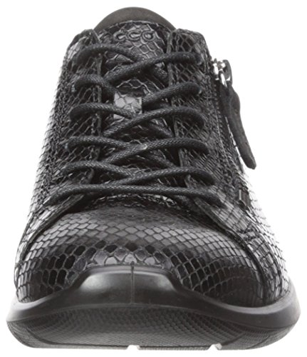 Ecco Molle Delle Donne Delle Sneaker Moda Zip 5 Lato Nero / Nero