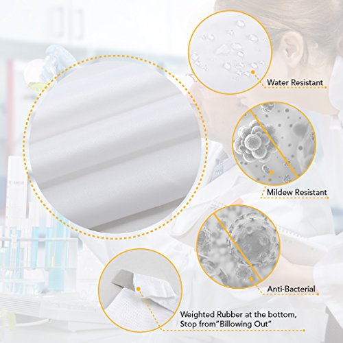 home queen Mold Resistant Shower Curtain,Anti-Mildew Heavy Duty Liner,Waterproof Bathroom Curtain Liner,72 W x 72 L Inches-White by home queen (Image #5)