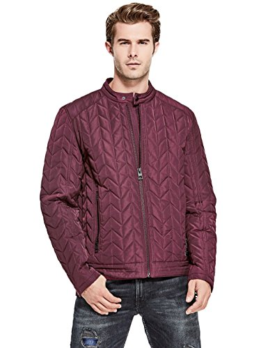 Guess Quilted Coat - GUESS Men's Keith Quilted Moto Jacket