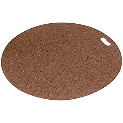 """DiversiTech The Original Grill Pad Grill Mat for Under the Grill Protection, Grilling Gear, Round, Brown, 30"""""""