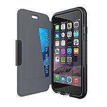 Genuine Tech21 Evo Wallet Case Cover for iPhone 6 Plus/6s Plus - Black (T21-5102)