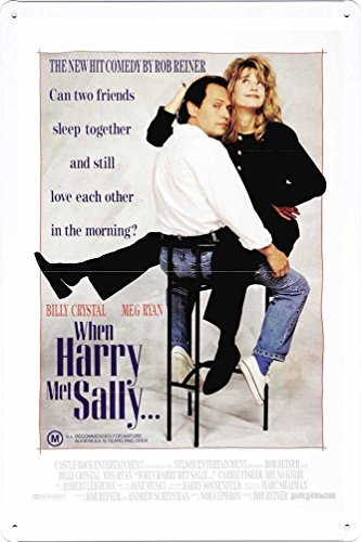 Movie Poster Home Theater Decor Metal Tin Sign Wall Art by Masterpiece Collection 20*30cm (When Harry Met Sally Poster)