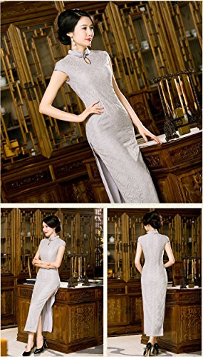 Style Cap China 0419 Sleeve Women's Dress Maxi Cheongsam Angcoco Qipao Lace nI56cq