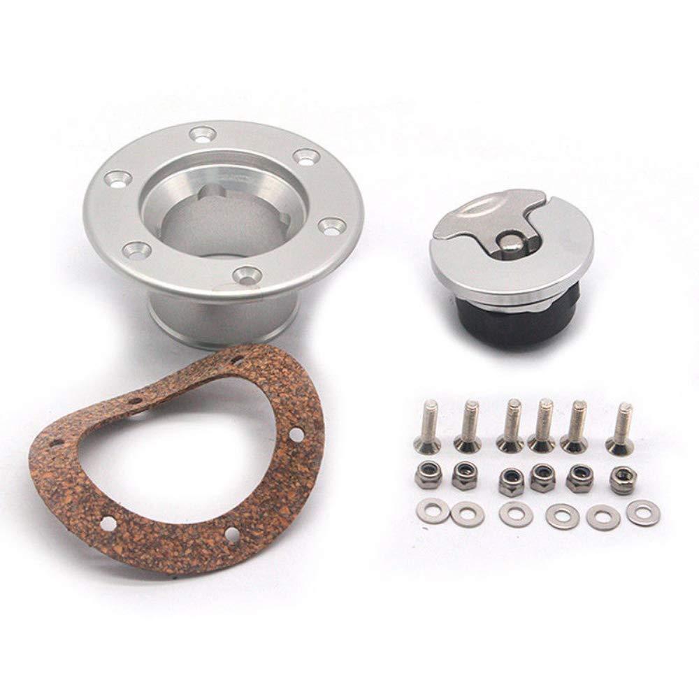 Auto Universal 35.5mm Fuel Cell Gas Cap Flush Mount 6 Hole Anodized Billet Aluminum