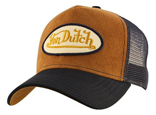 von-dutch-unisex-corduroy-logo-patch-trucker-hat-one-size-red-quilt