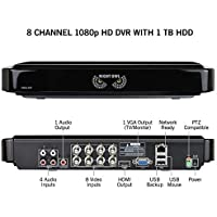 Night Owl Security, 8 Channel 1080p Analog HD Video Security System with 1 TB HDD (Black)