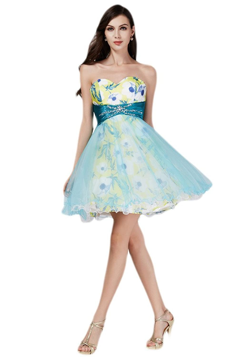 Audrey Bride Sweetheart Short Cocktail Dresses for Girls Prom Ball Party Dress