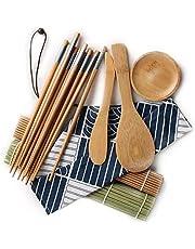 Lecimo® 11pcs/Set Sushi Roller Bamboo Mat Spoon Chopsticks Maker Food Rolling Tools