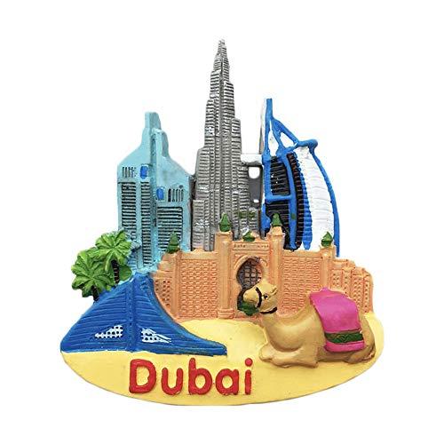 Dubai 3D Burj Khalifa Refrigerator Magnet Travel Sticker Souvenirs Home & Kitchen Decoration Fridge Magnet Collection from China
