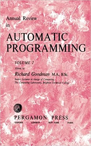 Annual review in automatic programming. v.2