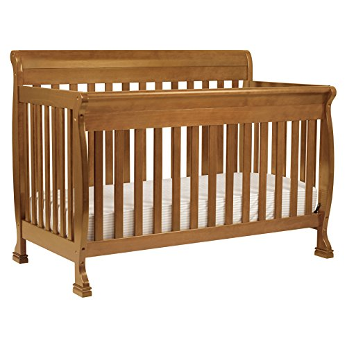DaVinci Kalani 4-in-1 Convertible Crib with Toddler Rail, Chestnut - Da Vinci Solid Pine Dresser