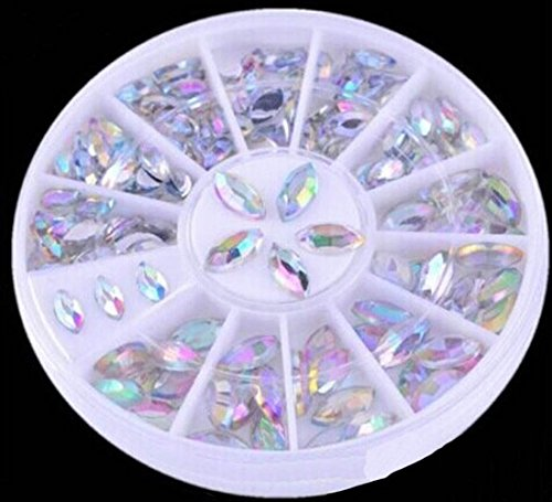 1-Sets Pretty Popular 3D Crystals Nail Art Wheel Full Design Non-Toxic Salon Supplies Random Mixed Multi-Color - Eyeglass For Face Shapes Styles