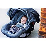 Carseat Canopy - The Whole Caboodle 5PC set - Baby Infant Car Seat Cover with complete matching set of accessories (Knott) by Mother's Lounge
