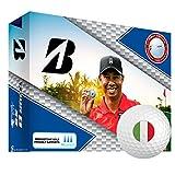 Bridgestone Tour B XS TW Personalized National Flag Logo Golf Balls Italy 1 Dozen White