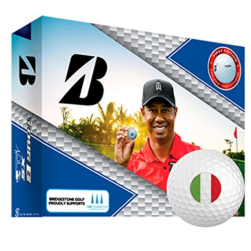 Bridgestone Tour B XS TW Personalized National Flag Logo Golf Balls Italy 1 Dozen White by Bridgestone