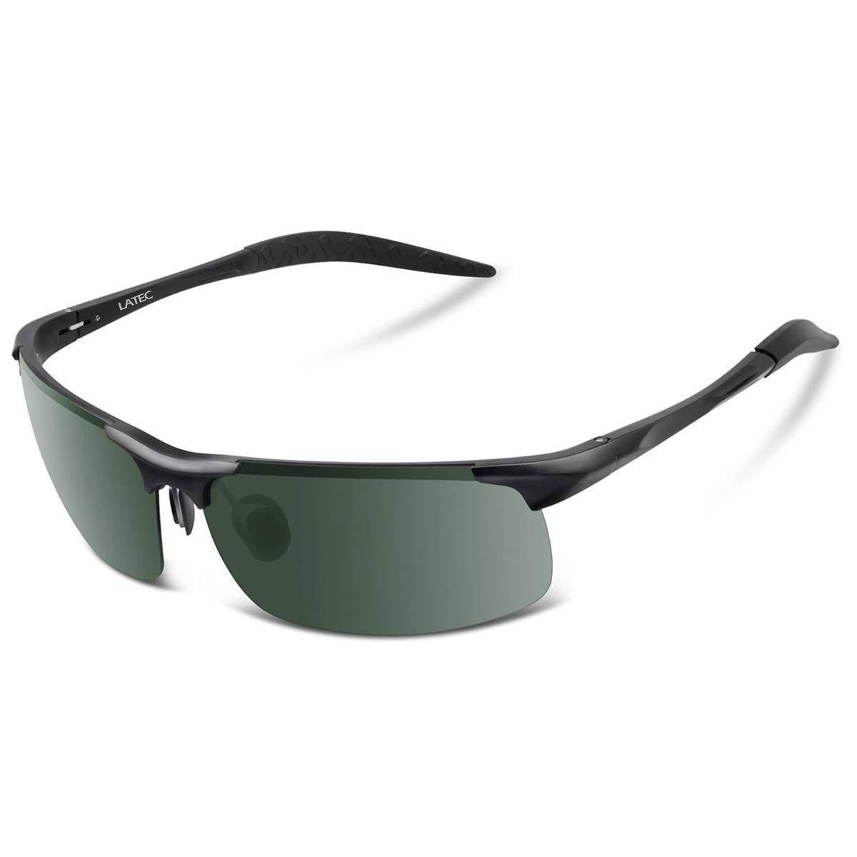 dafc6afee6 LATEC Gafas de Sol de conducción polarizada, Gafas de conducción para  Hombres Gafas Deportivas Gafas
