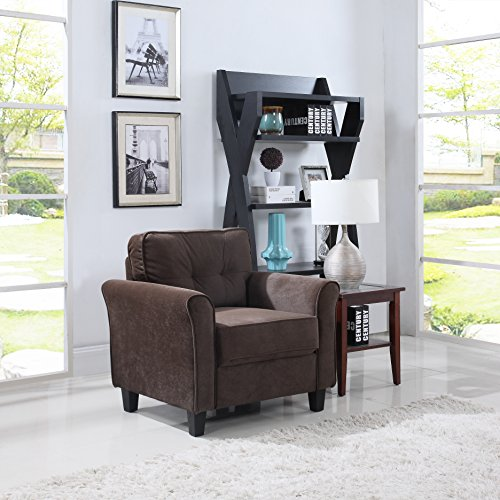 Classic Brush Microfiber Fabric Living Room Accent Chair (Classic Chair Set)